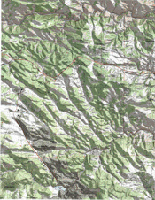 Evergreen Colorado Hillshaded Topo Map